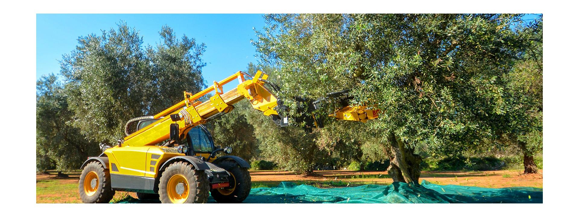 Ricambi per trattori, alberi cardani, aratri, raccolta e lavorazione degli alimenti